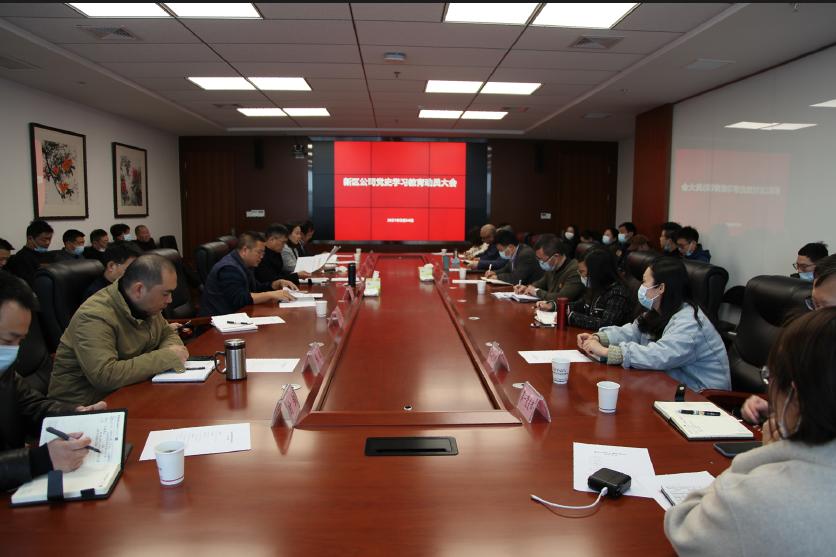 新区公司召开党史学习教育动员大会